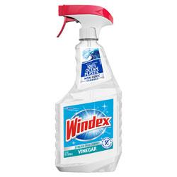 Windex Multi-Surface Vinegar Cleaner, Fresh Clean Scent, 23 oz Spray Bottle, 8/Carton