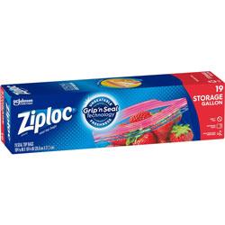 Ziploc® Double Zipper Storage Bags, 1 gal, 1.75 mil, 9.6 in x 12.1 in, Clear, 228/Carton