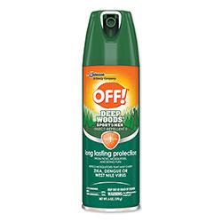 OFF! Deep Woods Sportsmen Insect Repellent, 6 oz Aerosol, 12/Carton