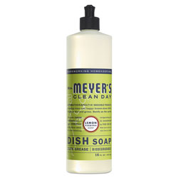 Mrs. Meyer's® Dish Soap, Lemon Scent, 16 oz, Bottle, 6/Carton