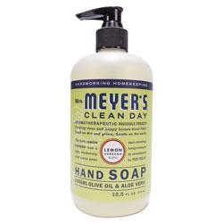 Mrs. Meyer's® Clean Day Liquid Hand Soap, Lemon, 12.5 oz, 6/Carton