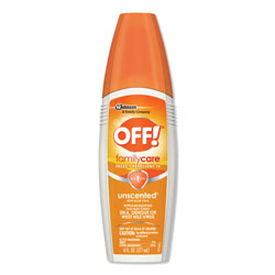 OFF! FamilyCare Unscented Spray Insect Repellent, 6 oz Spray Bottle, 12/Carton