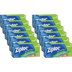 Ziploc® Sandwich Bags, 6-1/2 in x 5-7/8 in, 1080/CT, Clear