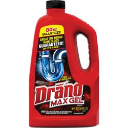 Drano Clog Remover Gel, Professional Strength, 80 fl. oz
