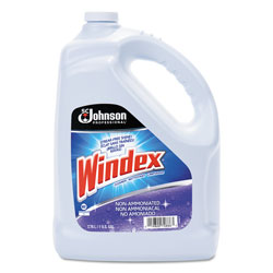 Windex Non-Ammoniated Glass/Multi Surface Cleaner, Pleasant Scent, 128 oz Bottle, 4/CT