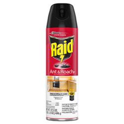 Raid Fragrance Free Ant & Roach Killer, 17.5 oz Aerosol Can, 12/Carton