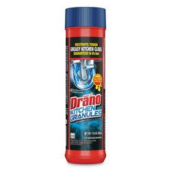 Drano Kitchen Granules, Odorless Scent, Canister, 6/Carton
