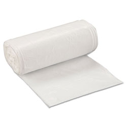 InteplastPitt Low-Density Commercial Can Liners, 16 gal, 0.5 mil, 24 in x 32 in, White, 500/Carton