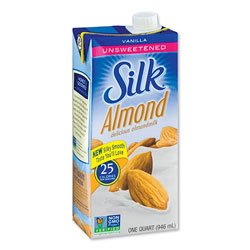 Silk® Almond Milk, Unsweetened Vanilla, 32 oz Aseptic Box