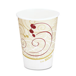 Solo Hot Cups, Symphony Design, 8oz, Beige, 1000/Carton