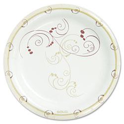 Solo Symphony Paper Dinnerware, Mediumweight Plate, 8 1/2 in, Tan, 500/Carton