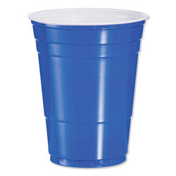 Dart Plastic Party Cold Cups, 16oz, Blue, 50/Bag, 20 Bags/Carton