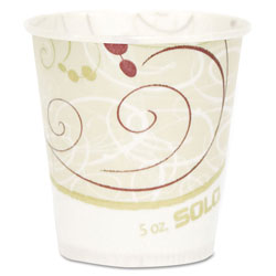 Solo Paper Water Cups, Waxed, 5oz, 100/Pack