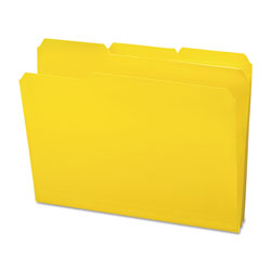 Smead Top Tab Poly Colored File Folders, 1/3-Cut Tabs, Letter Size, Yellow, 24/Box