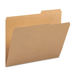 Smead Guide Height Reinforced Heavyweight Kraft File Folders, 2/5-Cut Tabs, Right of Center, Letter Size, Kraft, 100/Box