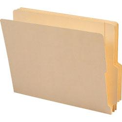 "Smead End Tab File Folders, Manila, 4"" Double Pli Tab, High Front, Letter, 100/Box"