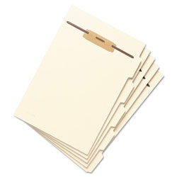 Smead Stackable Folder Dividers w/ Fasteners, 1/5-Cut Top Tab, Letter Size, Manila, 50/Pack
