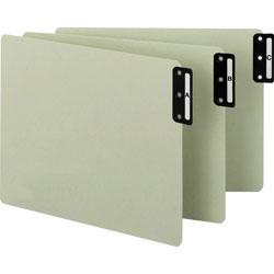 Smead Pressboard End Tab Guides, Vertical Metal Tabs, A Z, Letter, Green, 25/Set