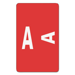 Smead AlphaZ Color-Coded Second Letter Alphabetical Labels, A, 1 x 1.63, Red, 10/Sheet, 10 Sheets/Pack