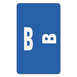 Smead AlphaZ Color-Coded Second Letter Alphabetical Labels, B, 1 x 1.63, Dark Blue, 10/Sheet, 10 Sheets/Pack
