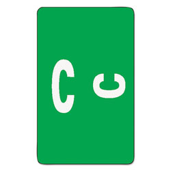 Smead AlphaZ Color-Coded Second Letter Alphabetical Labels, C, 1 x 1.63, Dark Green, 10/Sheet, 10 Sheets/Pack