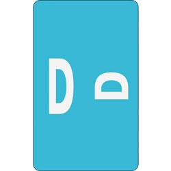 Smead Alpha-Z Color-Coded Second Letter Labels, Letter D, Light Blue, 100/Pack