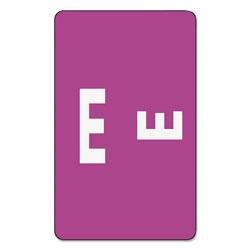 Smead AlphaZ Color-Coded Second Letter Alphabetical Labels, E, 1 x 1.63, Purple, 10/Sheet, 10 Sheets/Pack