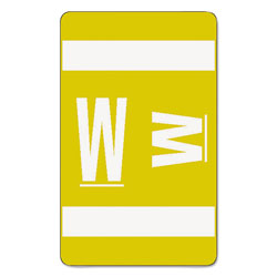 Smead AlphaZ Color-Coded Second Letter Alphabetical Labels, W, 1 x 1.63, Yellow, 10/Sheet, 10 Sheets/Pack