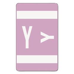 Smead Alpha-Z Color-Coded Second Letter Labels, Letter Y, Lavender, 100/Pack