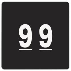 Smead Numerical End Tab File Folder Labels, 9, 1.5 x 1.5, Black, 250/Roll