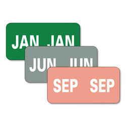 Smead Monthly End Tab File Folder Labels, JAN-DEC, 0.5 x 1, Assorted, 25/Sheet, 120 Sheets/Box