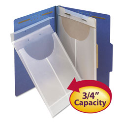 Smead Two-Hole Letter/Legal Poly Expanding Jackets, 2-Hole Punched, Letter/Legal Size, Clear, 24/Box
