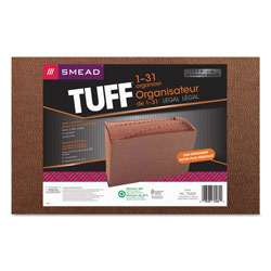 Smead TUFF Expanding Files, 31 Sections, 1/31-Cut Tab, Legal Size, Redrope