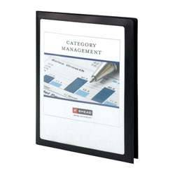 Smead Frame View Poly Two-Pocket Folder, 11 x 8.5, Clear/Black, 5/Pack