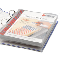 Smead Poly Ring Binder Pockets, 9 x 11.5, Clear, 3/Pack
