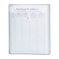 Smead Poly String & Button Interoffice Envelopes, String & Button Closure, 9.75 x 11.63, Clear, 5/Pack