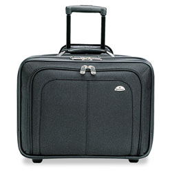 Samsonite Mobile Office Rolling Notebook Case, Nylon, 17 1/2 x 9 x 14, Black