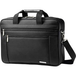 Samsonite 17 in Two Gusset Briefcase, Ballistic Nylon, 17-3/4 x 4-1/2 x 12, Black