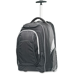 Samsonite Wheeled Backpack, Overnight, 21 in, Black/Gray