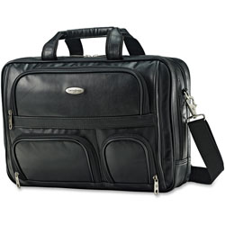 Samsonite 2-Compartment Expandable Brief, 6-1/2 in x 12 in x 12 in, Black