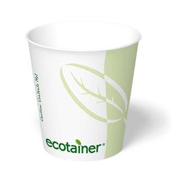 ecotainer Paper Squat Hot Cup, 10z.