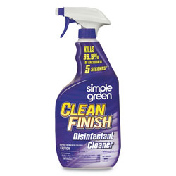 Simple Green Clean Finish Disinfectant Cleaner, 32 oz Bottle, Herbal, 12/Carton
