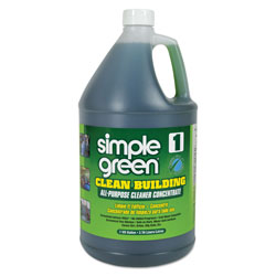 Simple Green Clean Building All-Purpose Cleaner Concentrate, 1gal Bottle, 2 per Carton
