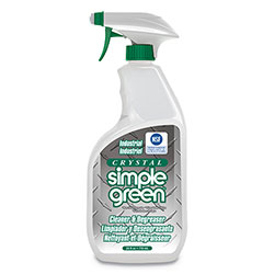 Simple Green Crystal Industrial Cleaner/Degreaser, 24 oz Spray Bottle, 12/Carton