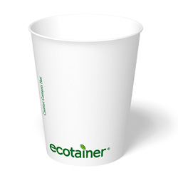 ecotainer Carte Blanc Paper Hot Cup, 12 oz.