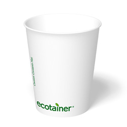 ecotainer Carte Blanc Paper Hot Cup, 8 oz.