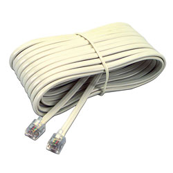 Softalk Telephone Extension Cord, Plug/Plug, 25 ft., Ivory