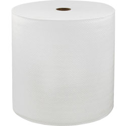 Solaris LoCor Hard Wound Roll Towels, 1-Ply, 7 in x 800'', 6RL/CT, White