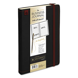 Southworth Business Journal, Narrow Rule, Black Cover, 8.25 x 5.13, 240 Sheets