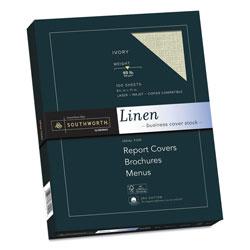 Southworth 25% Cotton Linen Cover Stock, 65lb, 8.5 x 11, 100/Pack